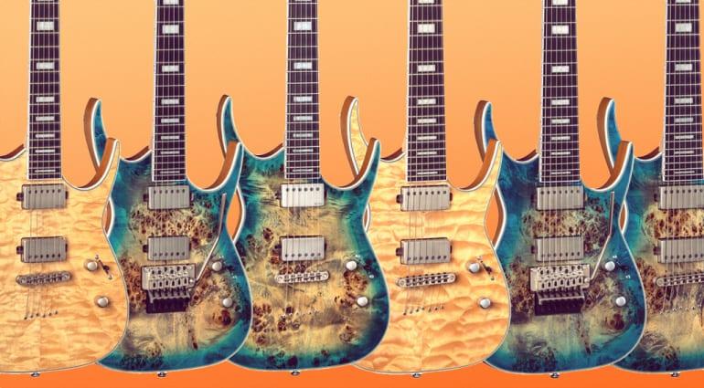Dean Guitars Exile Select Series polar burl