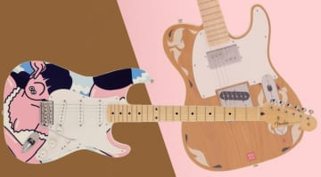 Fender does Pop Art with FACE Stratocaster and MHAK Tele