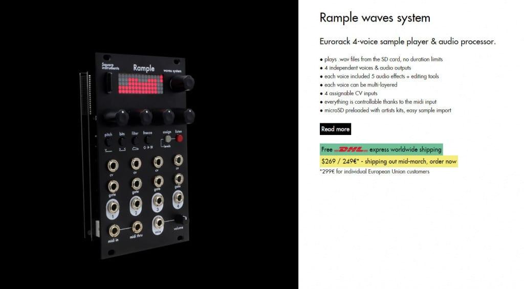 Squarp Instruments Ramble screengrab