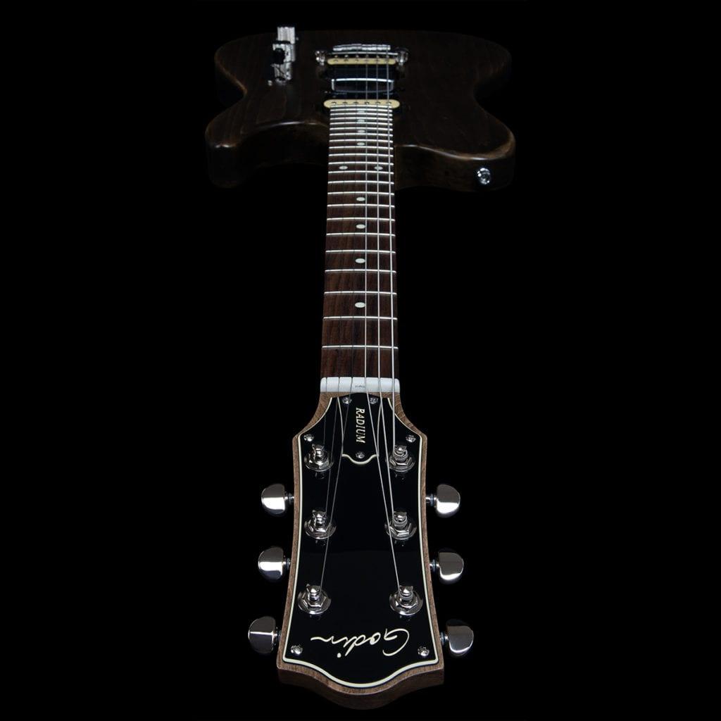 Godin Guitars Radium Carbon Black headstock
