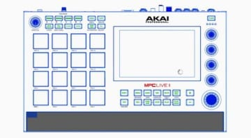AKAI MPC Live 2 leak top view