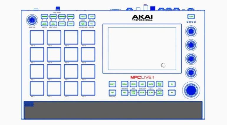 AKAI MPC Live 2 leak top view