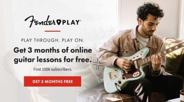 Fender Play free 3 month membership