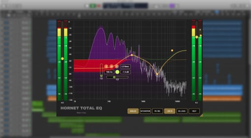 Hornet Total EQ plug-in GUI