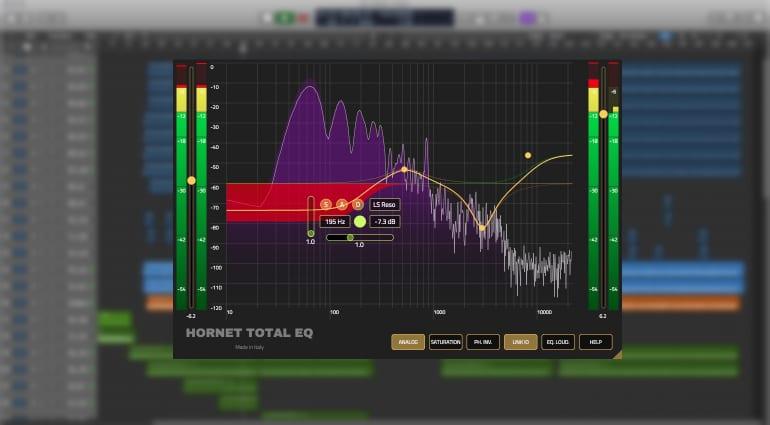 Hornet Total EQ plug-in GUI