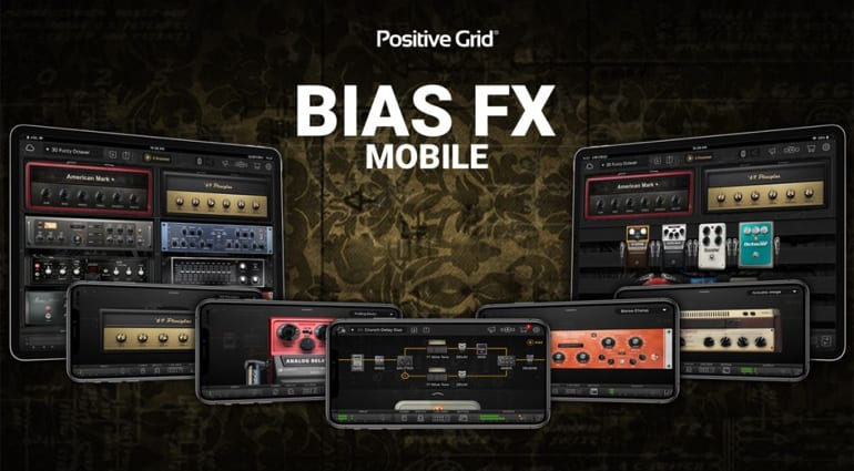 Positive Grid Bias FX Mobile guitar amp and FX app free for 90 days on iOS