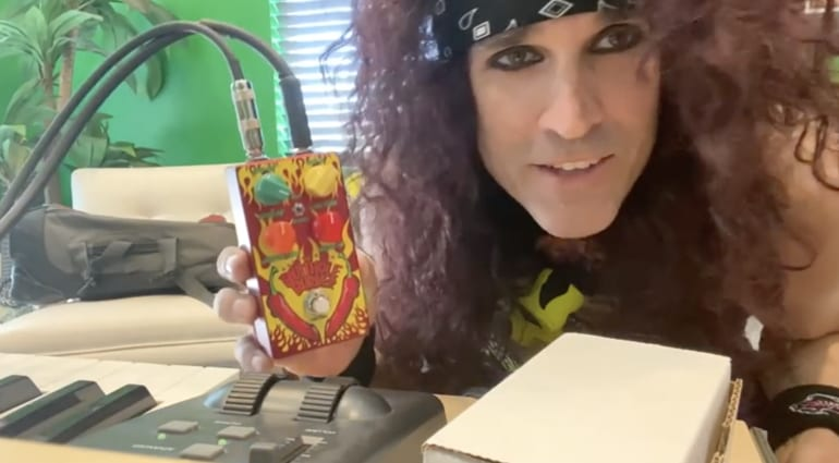 Steel Panther's Satchel announces new Butthole Burner pedal