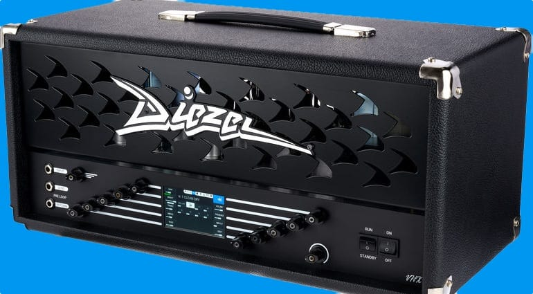 Diezel VHX amp head with built-in DSP and IRS