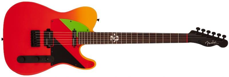 Fender Japan limited edition Evangelion Asuka Telecaster front