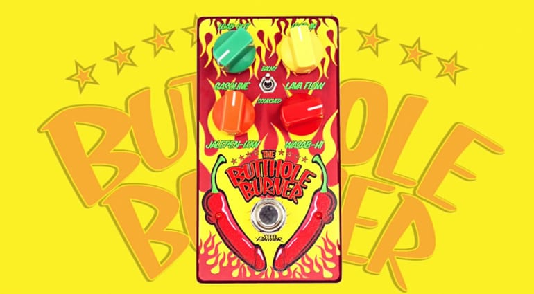 Steel Panther's Satchel announces new Butthole Burner distortion pedal