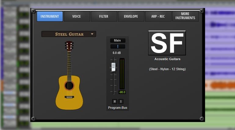 freemusicproduction.net acoustic guitar plug-in GUI