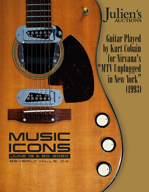Juliens Auctions of the Kurt Cobain MTV Unplugged Martin