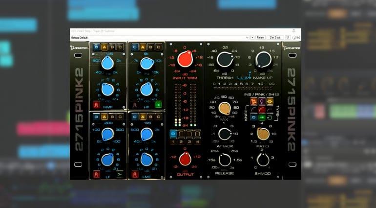 Acoustica Audio Pink 4 Effect Plug-in GUI