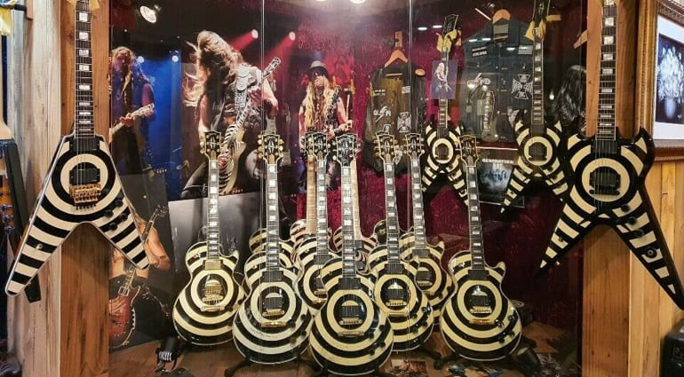 Gibson and Wylde Audio guitars