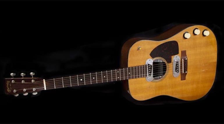 Kurt Cobain's Martin acoustic guitar is up for auction
