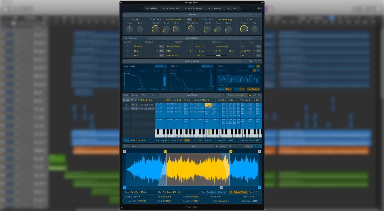 Logic Pro X 10.5 Sampler