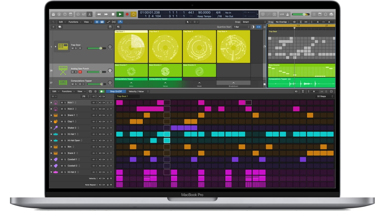 Logic Pro X 10.5 Step Editor