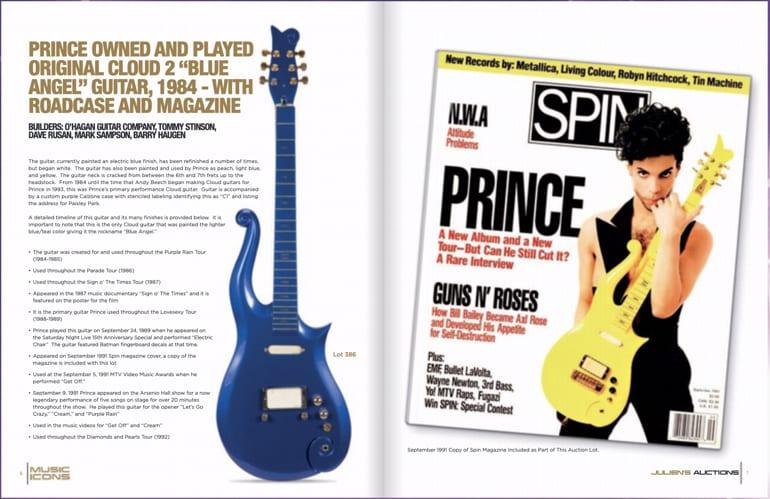 Prince's Purple Rain Tour Cloud guitar