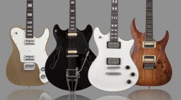 Schecter Guitar Research Corsair, PT Fastback, Tempest Custom and C-1 Exotic Spalted Maple