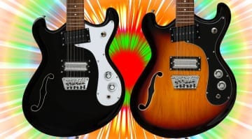 Time to get trippy with Danelectro Reissue '66-12 electric 12-string guitars!