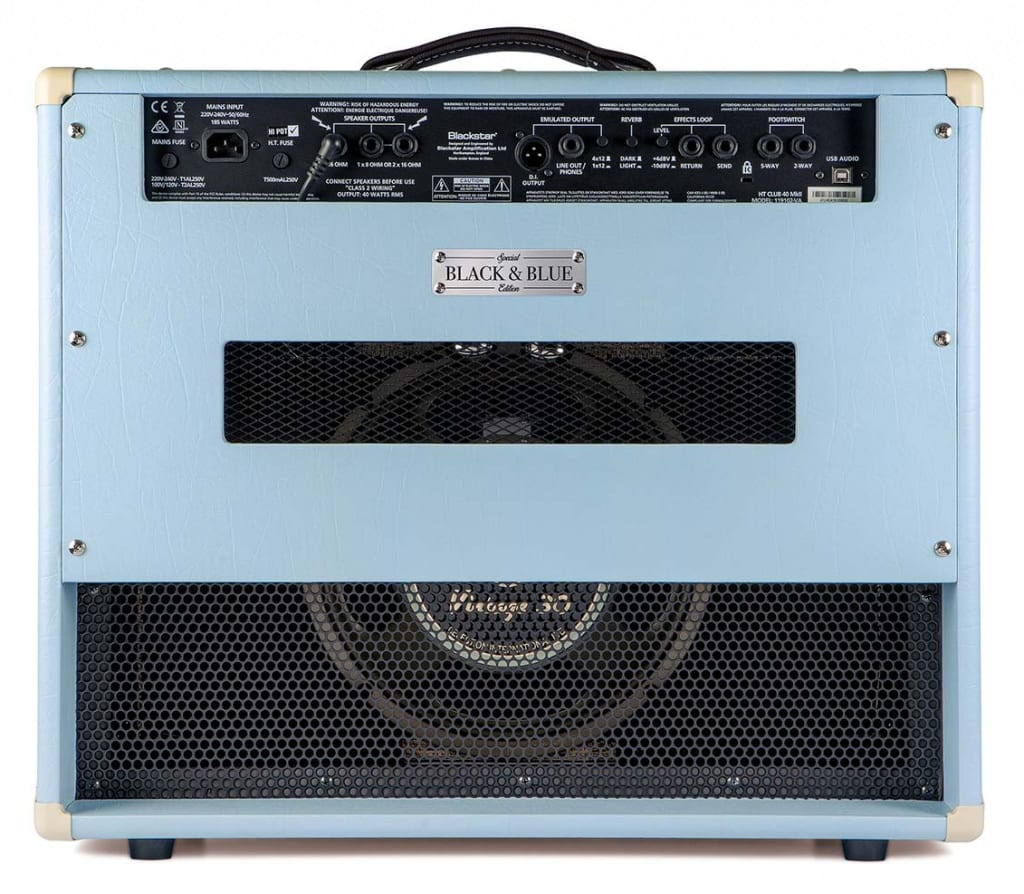 Blackstar HT 40 Club MkII Black and Blue combo guitar amplifier