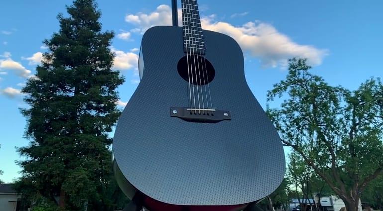 Burls Art Carbon Fibre Acoustic guitar