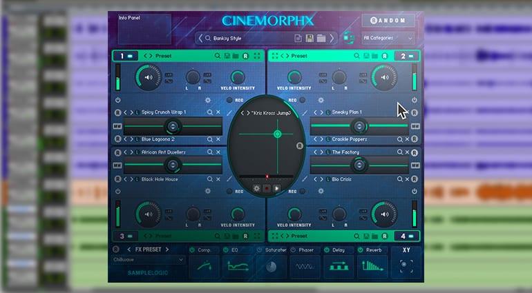 sample logic cinemporphx sample pack GUi