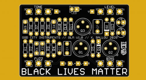 God City Music DIY PCB Black Lives Matter