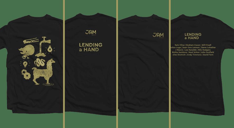 JAM Pedals Lending A Hand t-shirts