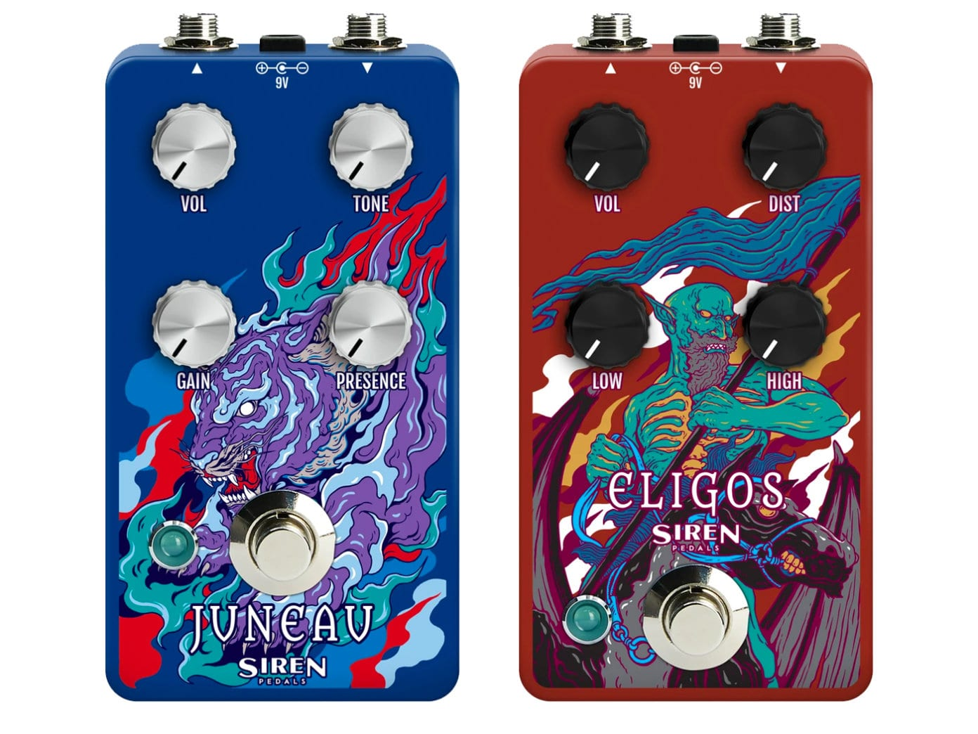 Siren Pedals Eligos and Juneau