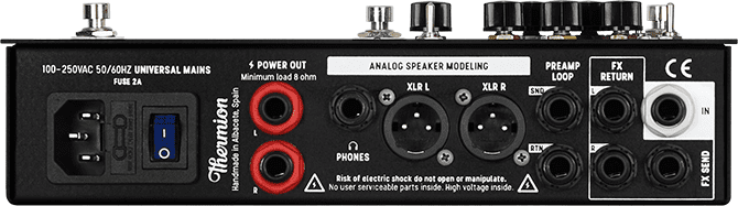 Thermion Zero - Dynamic hybrid amplifier rear panel