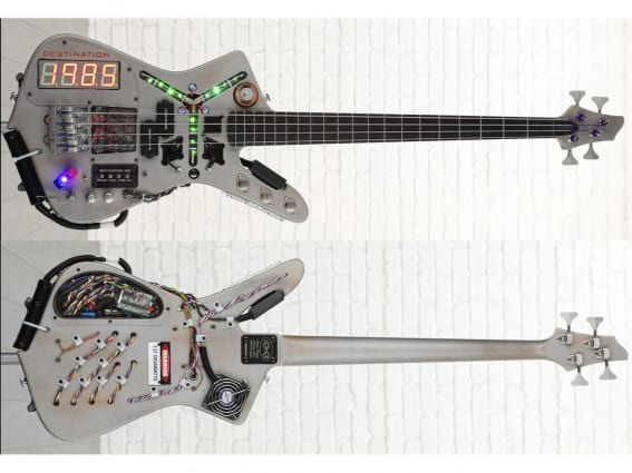 DeLorean/Time Machine bass guitar  built by Doner Designs