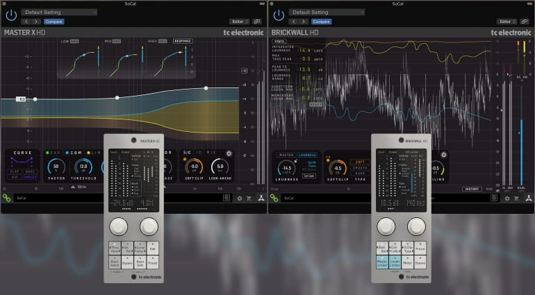 TC Electronic Master X HD and Brickwall HD plug-ins
