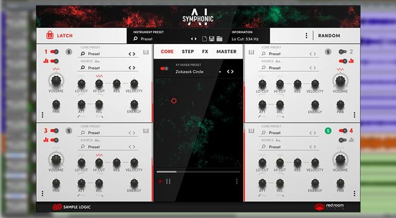 Sample Logic Symphonic AI sample pack GUI