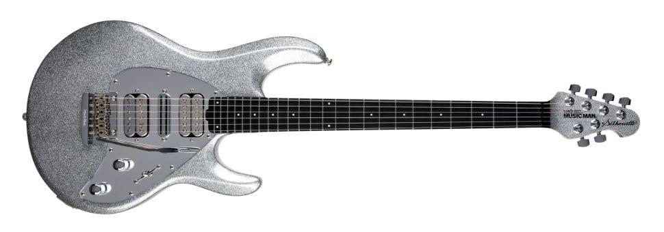 Ernie Ball Music Man Silhouette in Silver Flake Sparkle
