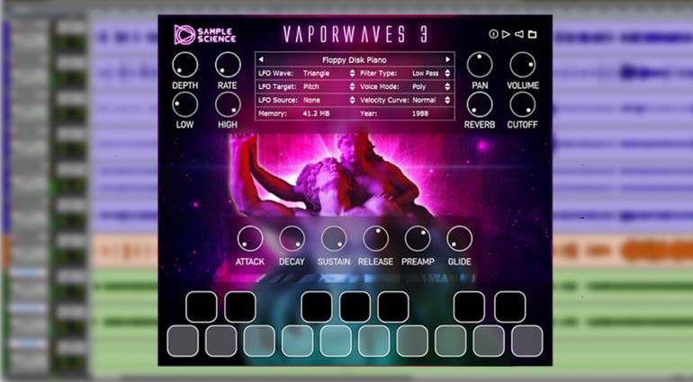 samplescience vaporwaves 3 sample pack GUI