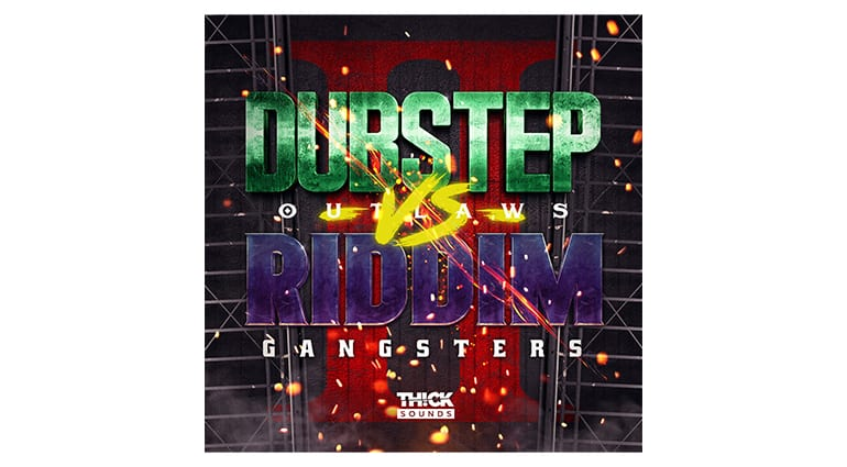 thick sounds dubstep outlaws vs riddim gangstas 2 sample pack cover art