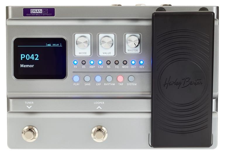 Harley Benton DNAfx front panel with LED display