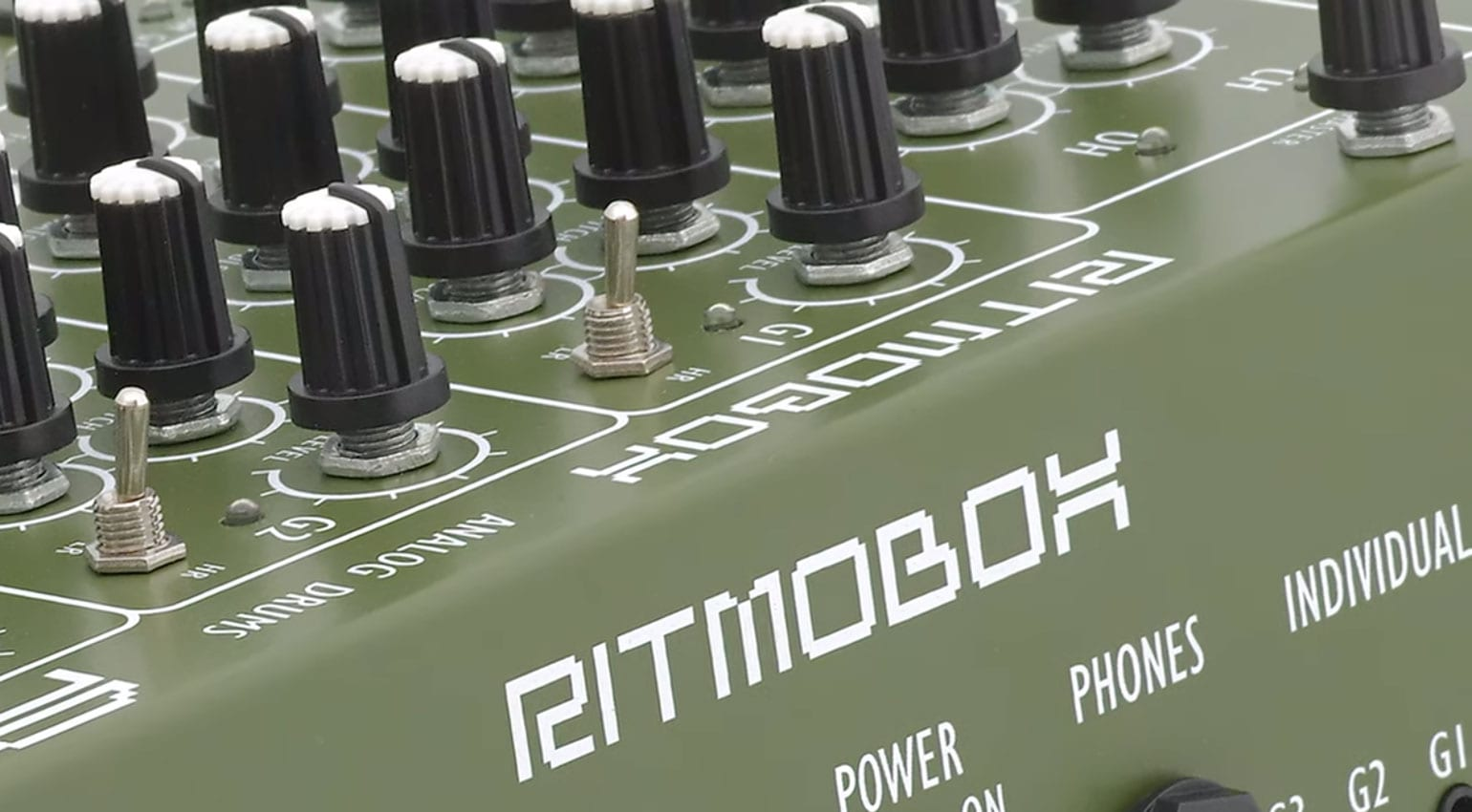 RITMOBOX: retro inspired analog drum synthesizer from AVP Synthesizers