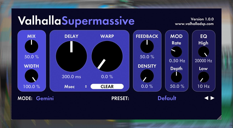 Valhalla DSP Supermassive Delay