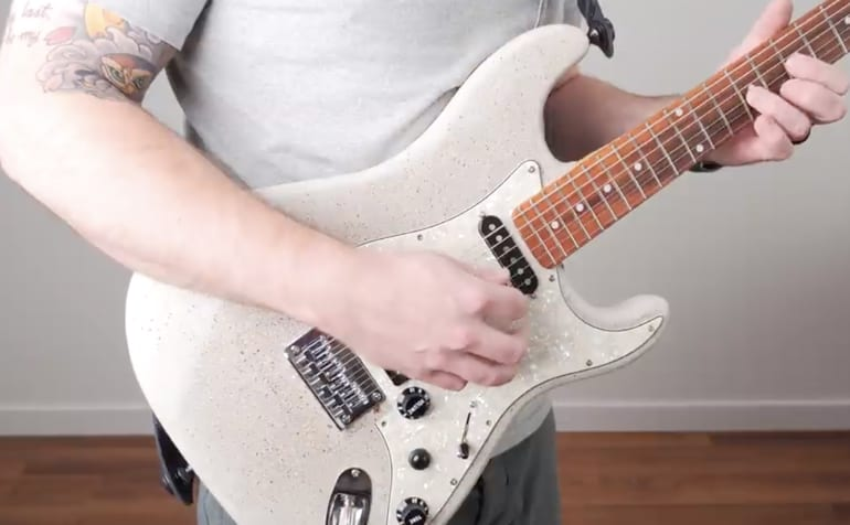 Concrete Guitar, the body weighs 19 lbs by itself!
