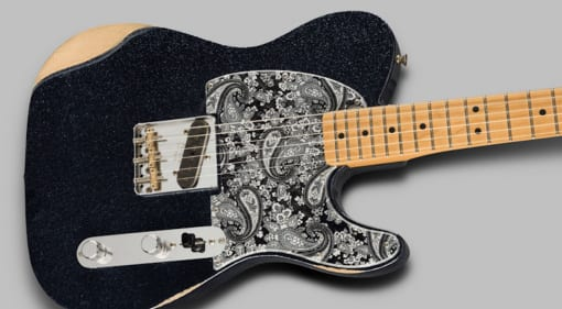 Fender Brad Paisley Esquire in Black Sparkle and secret neck pickup