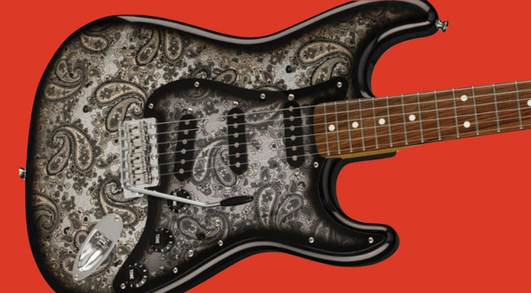 Fender Japan Black Paisley Stratocaster