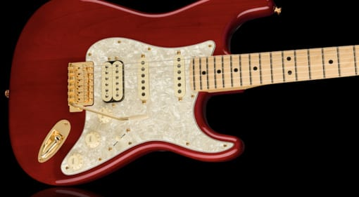 Fender Tash Sultana signature HSS Stratocaster in luscious Transparent Cherry