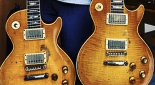 Gibson has built Kirk Hammett a 'Greeny' 1959 Les Paul. Which is which?