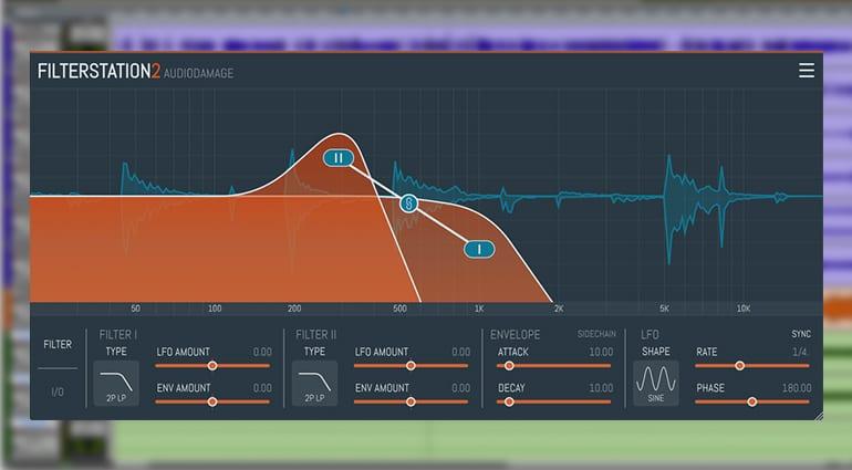 audio damage filter station 2 plugin GUI