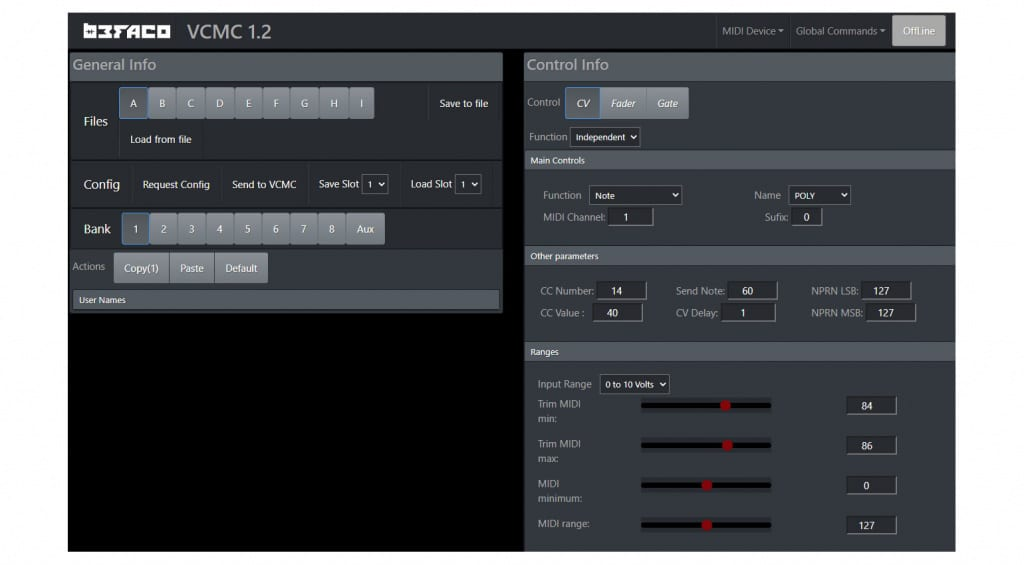 Befaco VCMC Web Editor