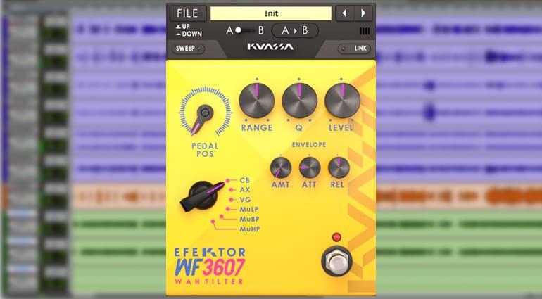 kuassa efektor wah filter plugin GUI