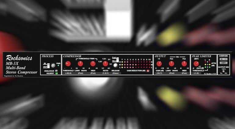 Rocksonics MB 3X Compressor Limiter Plug-in