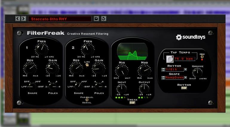 soundtoys filterfreak2 plugin GUI